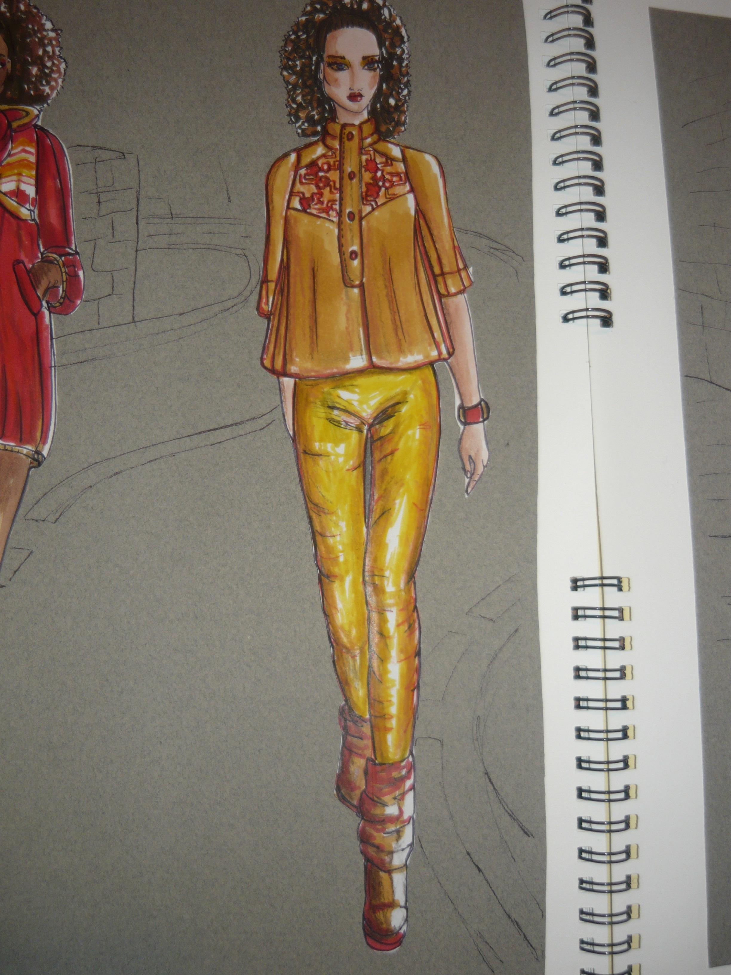 """fashion illustration , portfolio 1 ,collection"""" C'est la ..."""